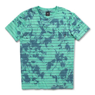 Men's Tie-Dye Checker Stripe T-Shirt