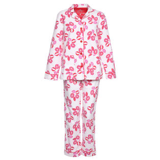 Women's Lips Flannel Two-Piece Pajama Set