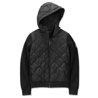 Manteau à capuchon en tricot Hybridge pour femmes