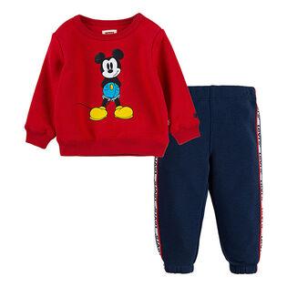 Boys' [2-4T] Disney® Mickey Crew + Pant Two-Piece Set