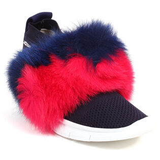 Women's Fur Trim Sock Sneaker