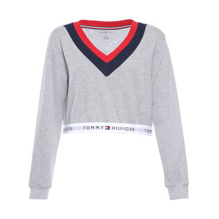 Women's Retro Cropped Pullover Top