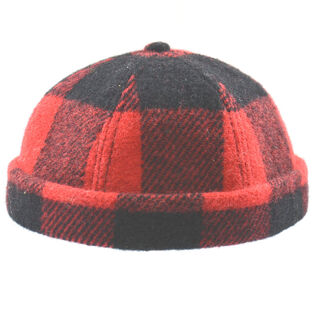Men's Buffalo Check Wool Blend Beanie