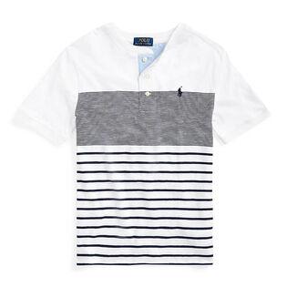 Junior Boys' [8-20] Striped Cotton Henley Top
