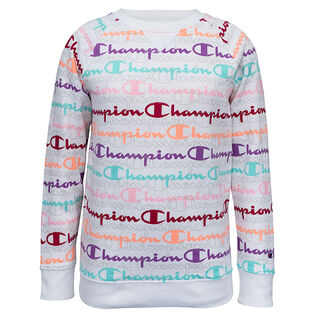 Junior Girls' [7-16] Layered Script Fleece Crew Sweatshirt