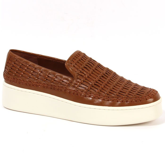 Chaussures Stafford en cuir tissé pour femmes