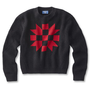 Women's Intarsia Crew Sweater