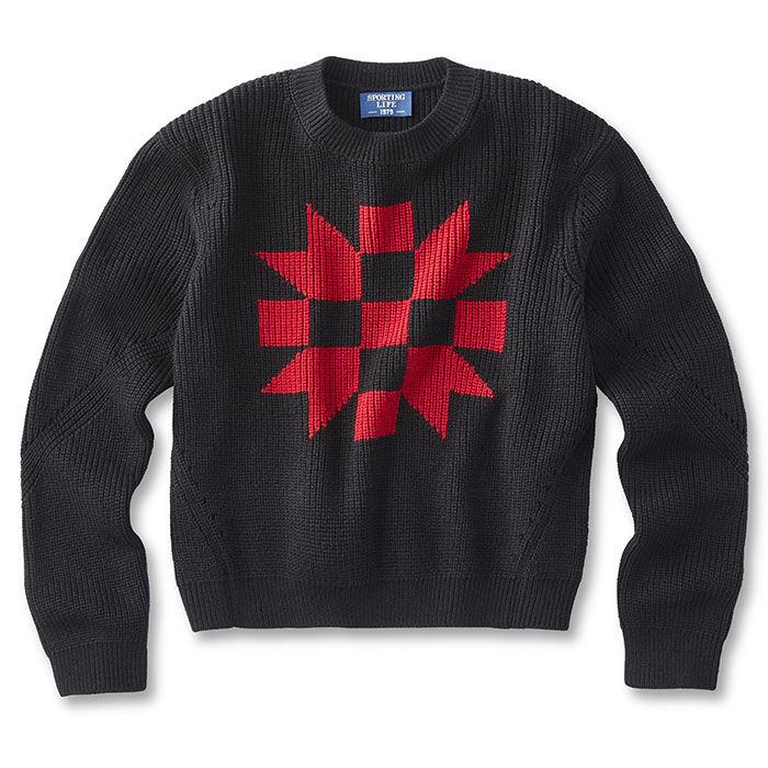 Chandail en tricot intarsia pour femmes