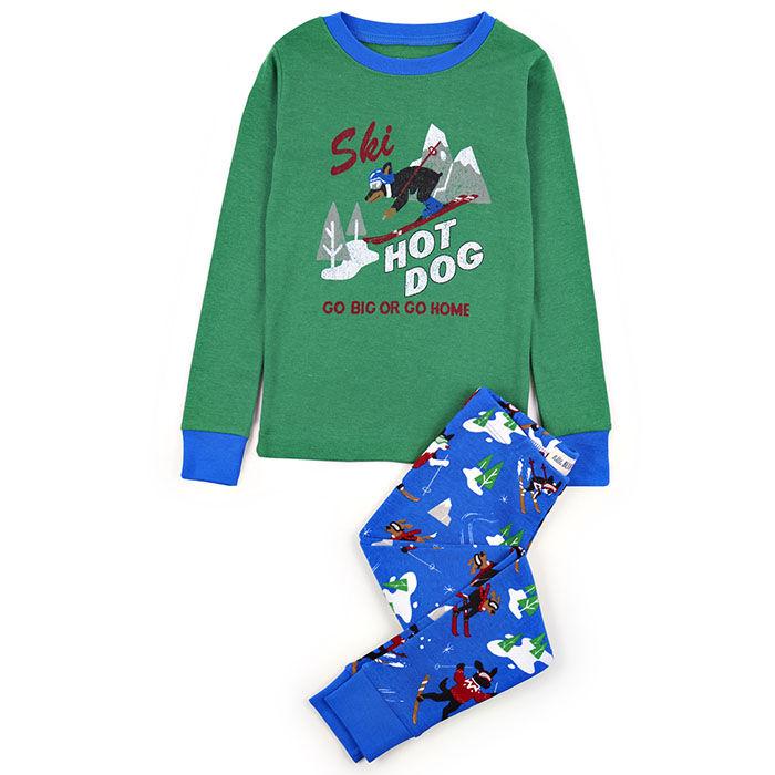 Kids' [2-10] Retro Ski Dogs Two-Piece Pajama Set