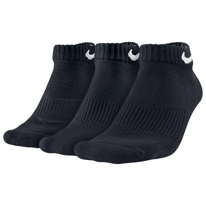 Men's Cotton Cushion Low-Cut Socks [3 Pack] (Black)