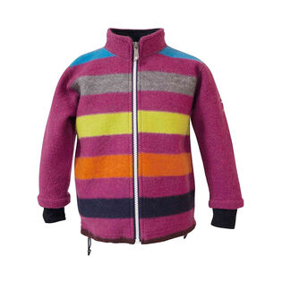 Junior Girls' [10-14] Stripe Wool Jacket