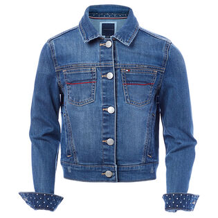 Junior Girls' [7-16] Embroidered Denim Jacket