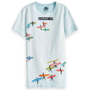 T-shirt délavé à motifs pour garçons juniors [8-16]