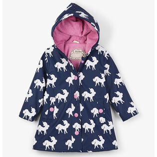 Girls' [3-10] Colour-Changing Unicorns Raincoat