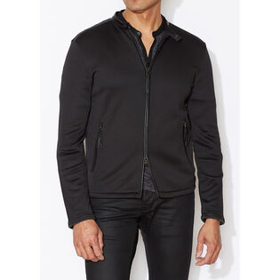 Men's Leather Trim Terry Jacket