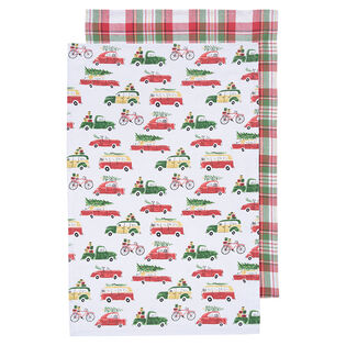 Holiday Cars Dish Towel (Set Of 2)