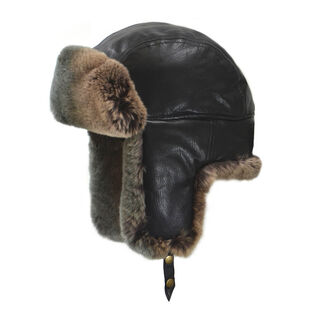 Two-Tone Fur Aviator Hat