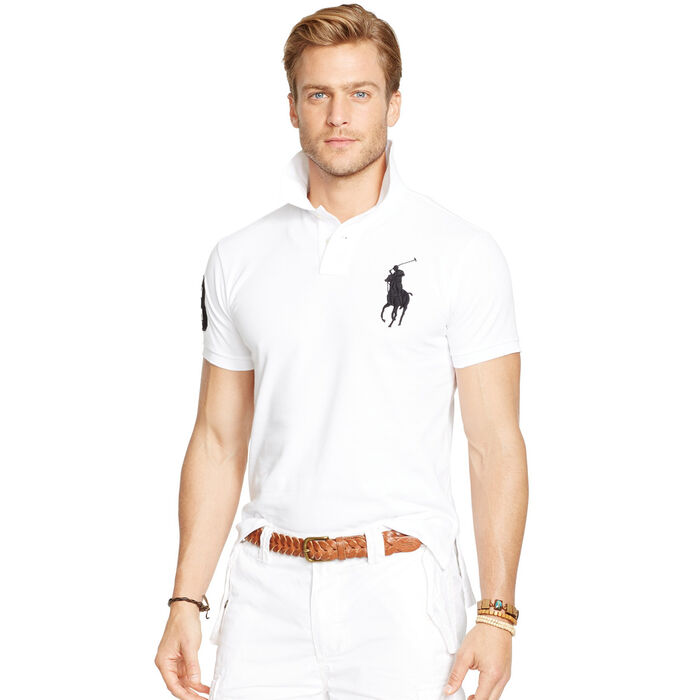 cd9d029d Men's Custom-Fit Big Pony Mesh Polo Shirt | Polo Ralph Lauren ...