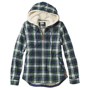 Women's Scotch Plaid Flannel Sherpa-Lined Hoodie
