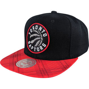 Men's Toronto Raptors Plaid Brim Snapback Hat
