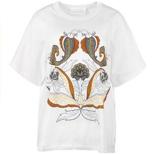 T-shirt à imprimé cachemire pour femmes