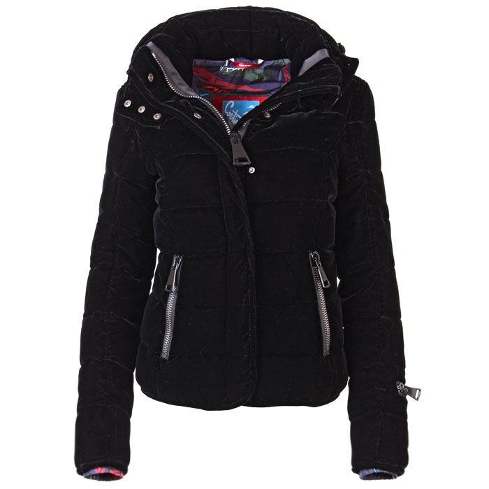 Manteau matelassé en velours pour femmes