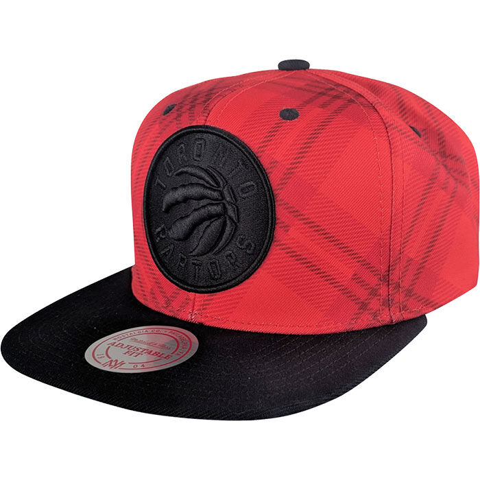 Men's Toronto Raptors Plaid Snapback Hat