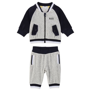 Baby Boys' [3-18M] Velour Two-Piece Tracksuit
