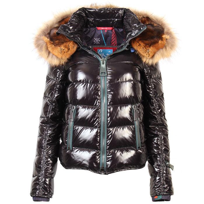 Manteau matelassé lustré ton sur ton pour femmes