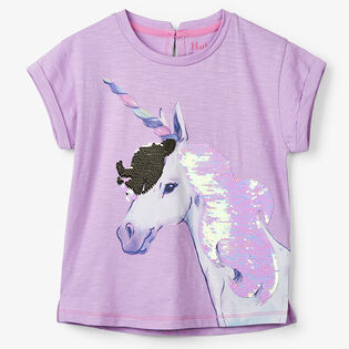 Girls' [3-7] Flip Sequin Unicorn T-Shirt