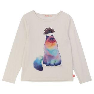 Girls' [3-6] Cat Jersey T-Shirt