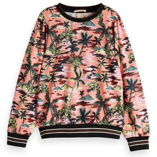 Junior Girls' [8-16] Island Print Pullover Sweatshirt