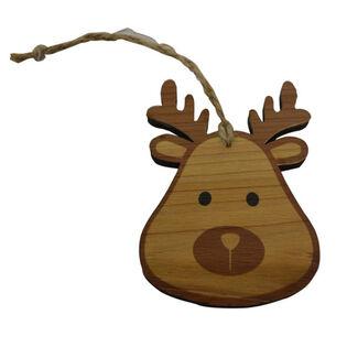 Wood Reindeer Ornament