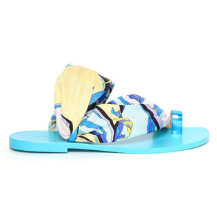 Women's Silk Scarf Sandal