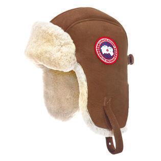 Suede Shearling Pilot Hat