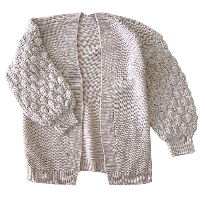 Junior Girls' [7-16] Popcorn Knit Cardigan