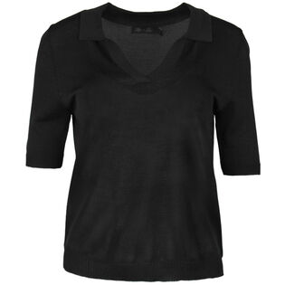 Women's Knit Collared Top