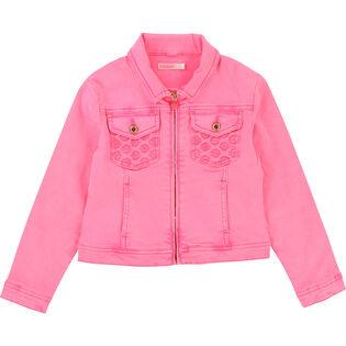 Girls' [4-6] Embroidered Denim Jacket