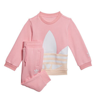 Baby Girls' [6M-3Y] Large Trefoil Crew Two-Piece Set