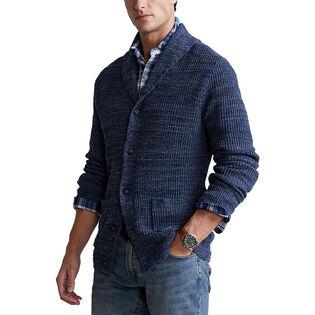 Men's Marled Cotton Shawl Cardigan