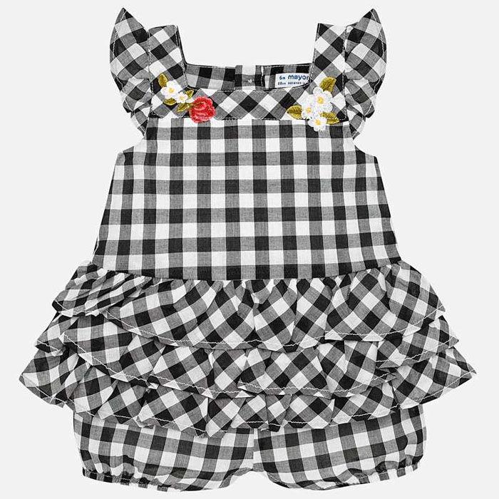 Barboteuse Gingham pour bébés filles [0-18M]