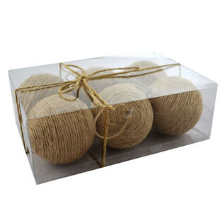 Rope Ball Ornament Set