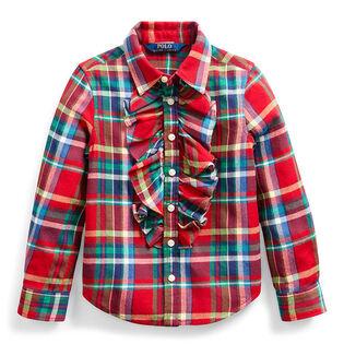 Girls' [2-4] Plaid Cotton Twill Shirt