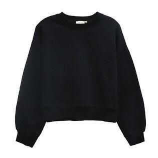 Women's Solid Pullover Sweatshirt