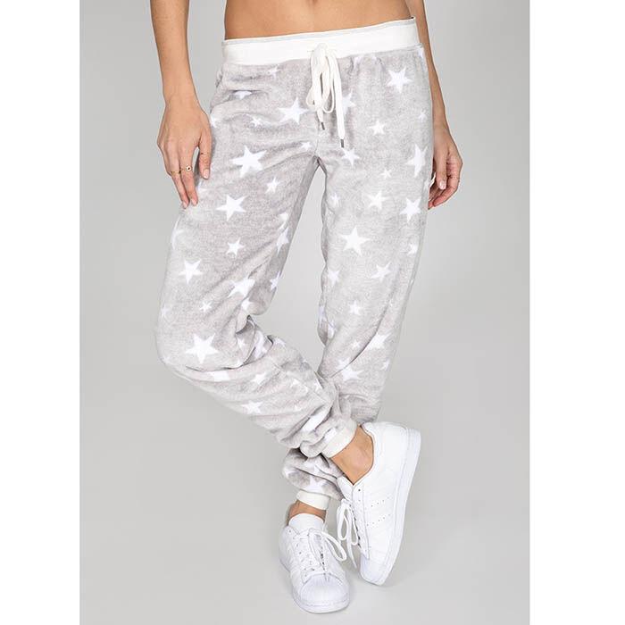 Pantalon à bande douillet à motifs d'étoile pour femmes