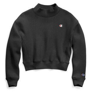 Women's Reverse Weave® Mock Crop Sweatshirt