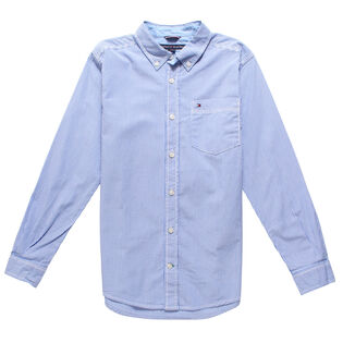 Junior Boys' [8-16] Pinstripe Shirt