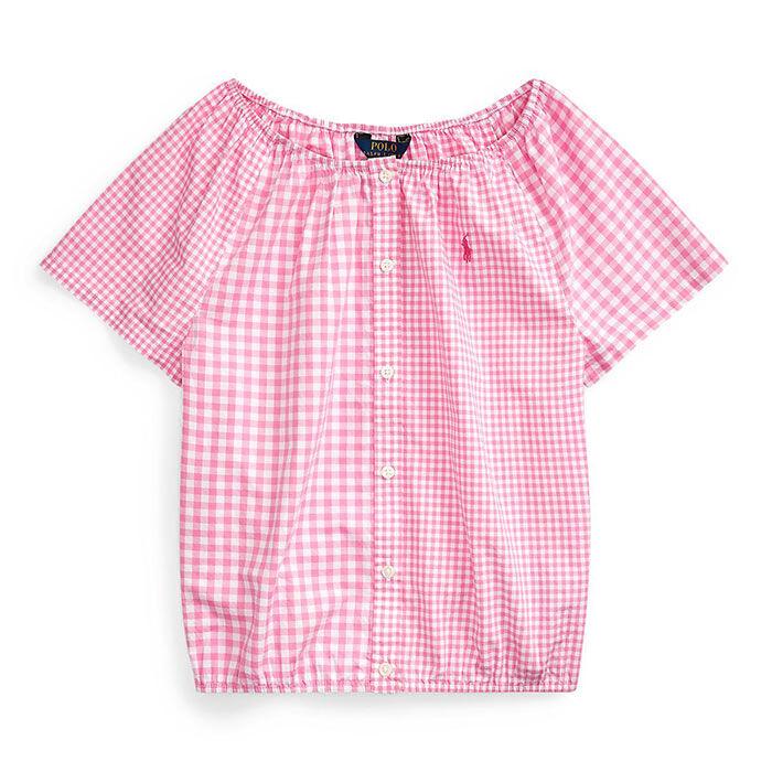 Haut à carreaux mixtes en coton pour filles juniors [7-16]