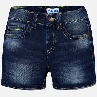 Baby Boys' [6-24M] Dark Rinse Denim Short