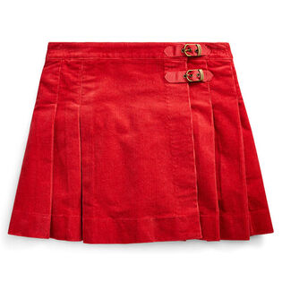 Junior Girls' [7-16] Stretch Cotton Corduroy Skirt
